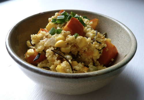 Millet, squash and sweet corn pilaf