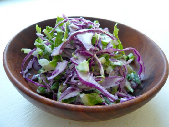 Simple slaw with tangy cashew dressing