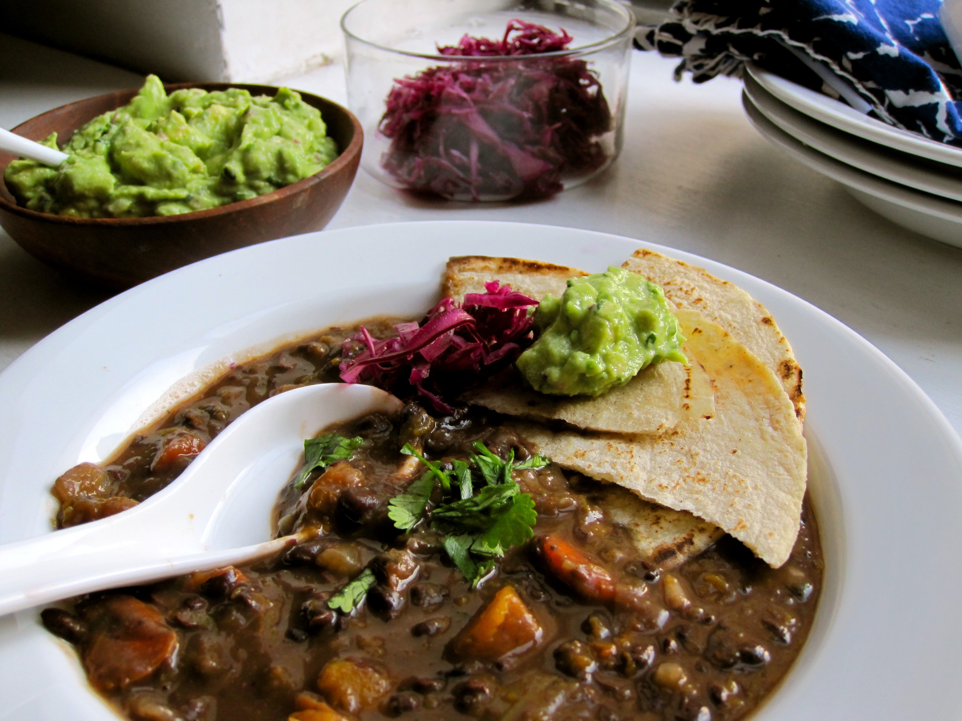 October Soup Celebration! Black Bean Tortilla Soup Recipe ...