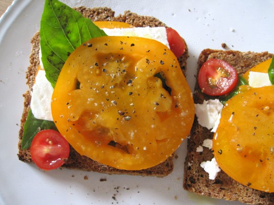 Tomatoes on toast… in a new kitchen