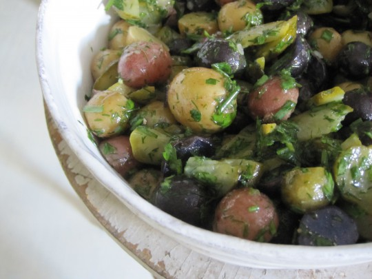 Herbed baby potato salad