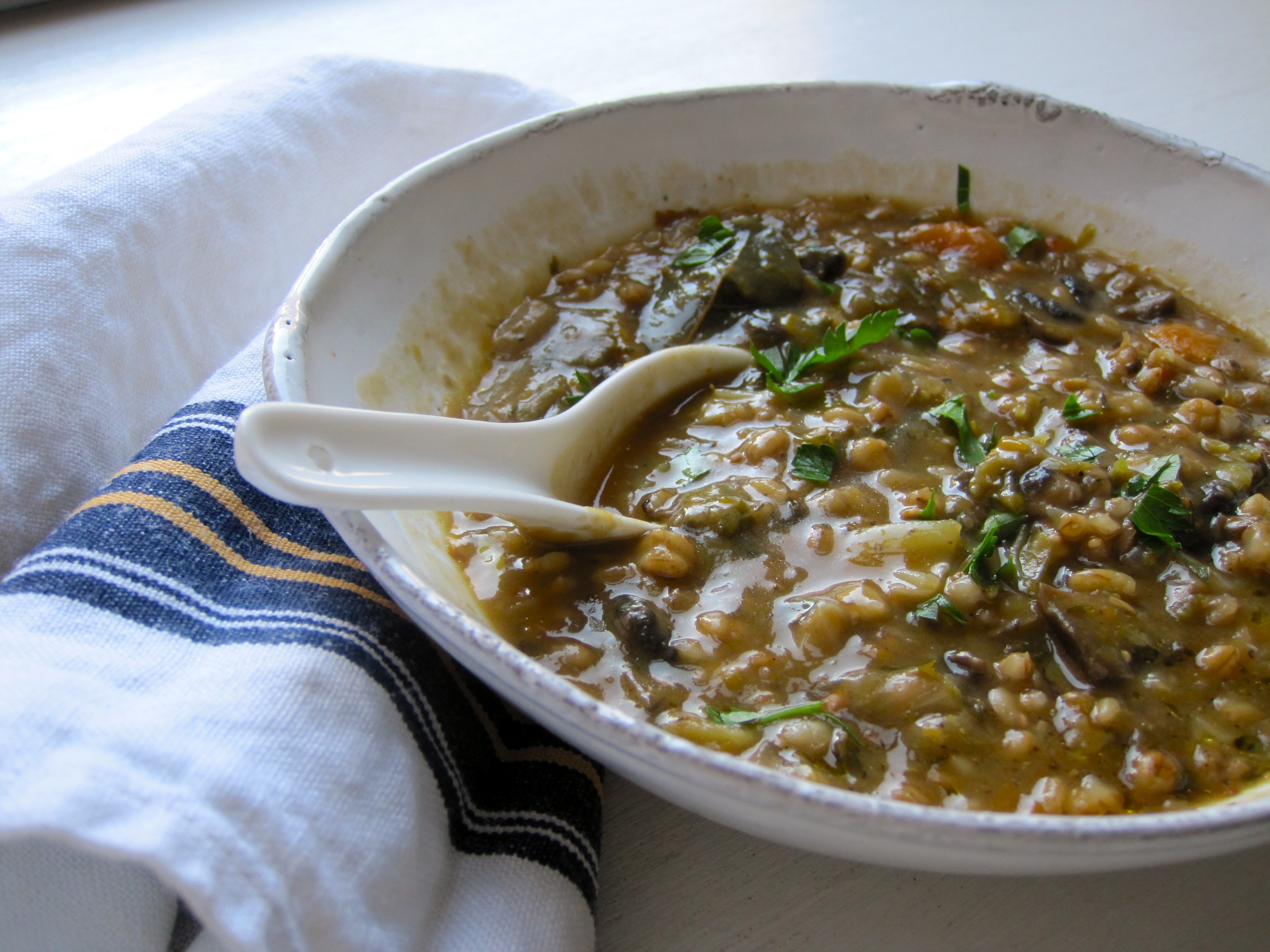 how to cook pot barley in soup