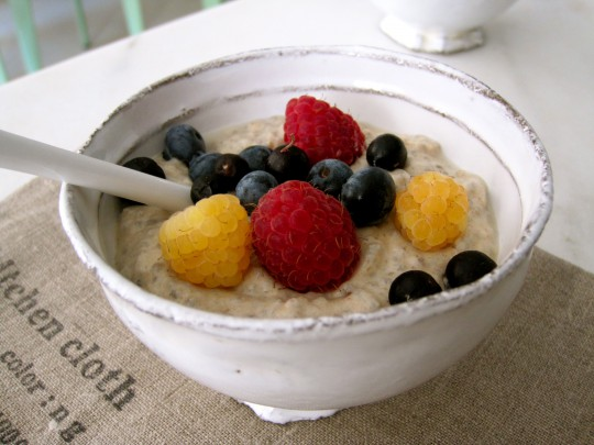 Vanilla Chia Pudding with Berries…and a Chocolate Version