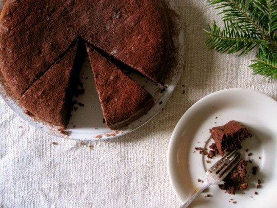 """Small Plates and Sweet Treats"" Gluten-free chocolate hazelnut & buckwheat cake"
