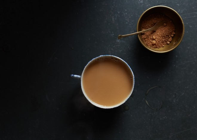 chai + homemade almond milk that won't curdle