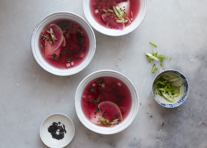 watermelon radish soup 2