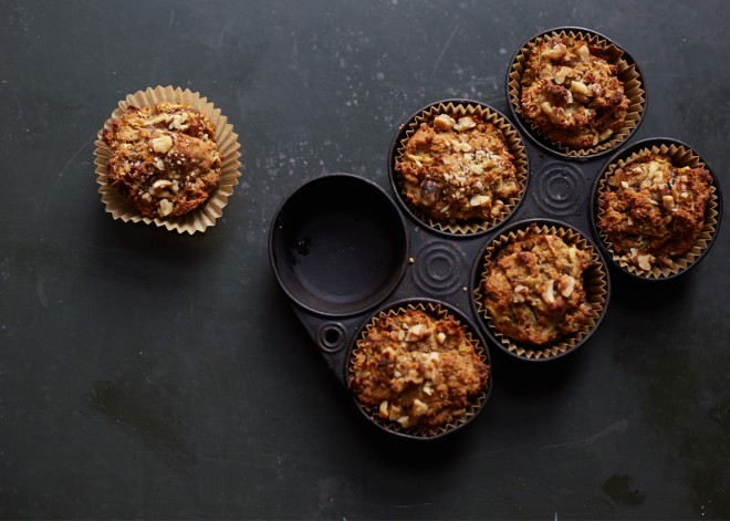 Carrot, Apple + Ginger Muffins (gluten-free)