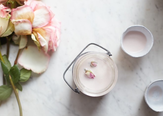 Rose almond milk