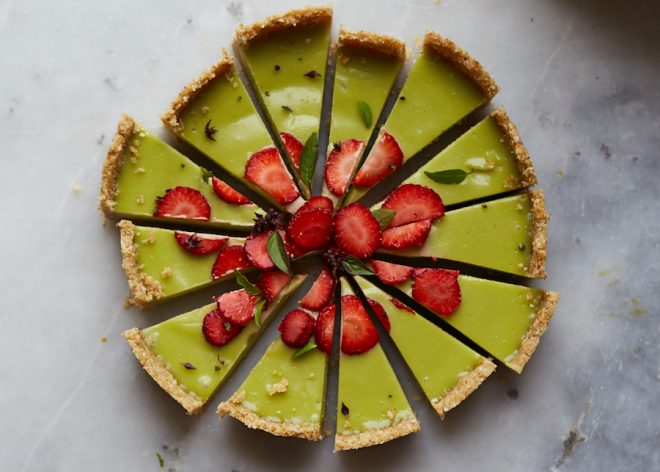 STRAWBERRY BASIL TART